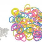 W.I.I. Glow-in-the-Dark Latex-Free Colorful Loom Bands, 600 PCS + 25 S Clips,