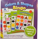 Scholastic Colors and Shapes Bingo Learning Educational Game Pre-K Kindergarten