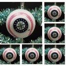MLB Major League Baseball Seattle Mariners Set Of 6 Holiday Christmas Tree Team