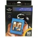 USB Digital Photo Keychain - Blue