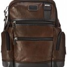 Tumi Alpha Bravo Knox Leather Backpack, Dark Brown, One Size