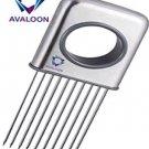 Avaloon Onion Holder Vegetable Helper Potato Cutter Slicer Gadget Stainless Aid