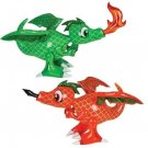 Inflatable 30-Inch Dragon - Colors May Vary (Red Or Green)