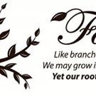 Wall Decor Plus More WDPM303 Family Quote With Branches Vinyl Wall Decal, 32 W