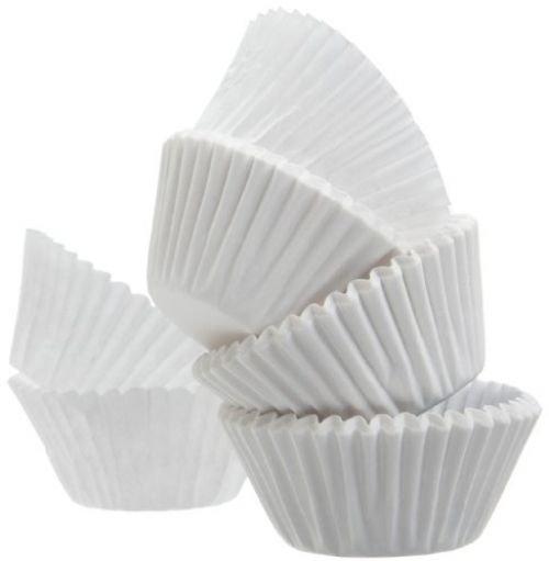Regency Paper Baking Cups, White, Mini, 75-Count