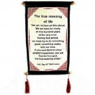 DALAI LAMA QUOTES ~ Cotton Canvas Scroll ~ The True Meaning Of Life ~ Natural
