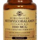 Sublingual Methylcobalamin (Vitamin B12), Solgar, 60 nuggets 1000 mcg