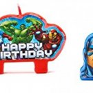 Party Time Avengers? Molded Mini Character Birthday Candle Set, Pack Of 4, ,
