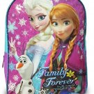 Disney Frozen Princess Elsa, Anna, Olaf Sparkle Backpack, Large 15 School Bag,