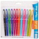 Paper Mate Flair Felt Tip Pens, Medium Point, Assorted, 12 Pack