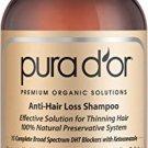 PURA D'OR Anti-Hair Loss Premium Organic Argan Oil Shampoo (Gold Label), 16