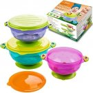 Best Baby Bowls, Spill Proof, Stay Put Suction Bowls With Seal-Easy Lids Stack