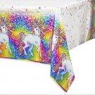 Rainbow Majesty By Lisa Frank Plastic Tablecloth, 84 X 54