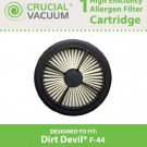 1 Dirt Devil F44 Allergen Pre-Motor Filter (With Foam) Designed To Fit Dirt Dev