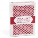 Single Red Deck, Wide Size, Jumbo-Index, Plastic-Coated Playing Cards By