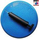 Air Stability Wobble Cushion, Blue, 35cm/14in Diameter, Balance Disc, Pump