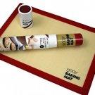 MOOJI - (2 Pack) Premium Non-Stick Silicone Baking Mat - Sheet Sizes 16.5 X 11