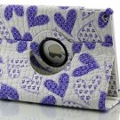 IPad Air 2 Case - DeFaith Premium Love Hearts Printing Leather Flip Smart Case