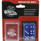 Dice - Monster Protectors Set Of 6 D6 Logo Die With Pocket Carrying Case (Blue)