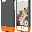 IPhone SE Case, Elago® [Glide-Limited][Dark Gray / Orange] - [Mix And Fit] -
