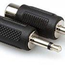 Hosa GRM-114 RCA To 3.5 Mm TS Adaptors 2-Pack