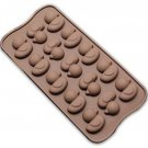 Wocuz Animal Album Shaped Chocolate Candy Making Supplies Molds Fondant Making