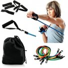 BEST SELLER Resistance Band Set With Door Anchor, Ankle Strap, Exercise Chart,