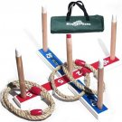 Elite Ring Toss Game - Children?s Or Family Outdoor Quoits Game - Compact Bag