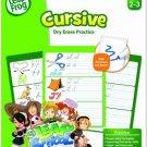 LeapFrog LeapSchool Cursive Dry Erase Practice Workbook For Grades 2-3 With 16