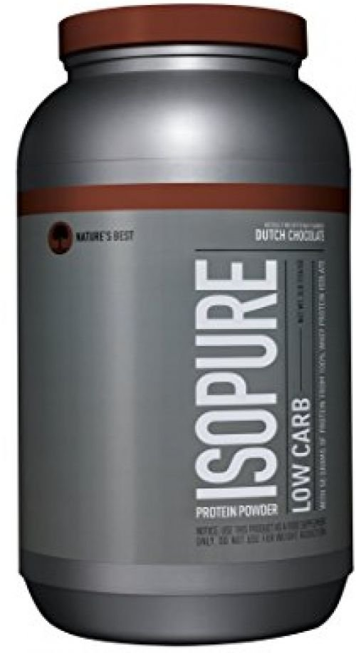 Isopure Low Carb Protein Powder, Dutch Chocolate, 3 Pounds