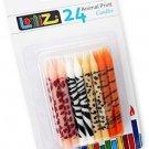 LolliZ½ Birthday Candles Animal Print. Pack Of 24 Prints: 6x Giraffe, 6x 6x 6x