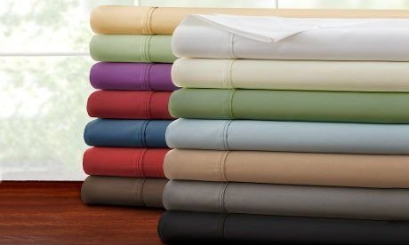 Hotel New York Solid Colors Design 90 GSM Microfiber Full Sheet Set, Color Whit