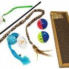 Everlast Pet Toys | Best Scratcher - Bell Toy Bundle PLUS For Cats | Leopard |