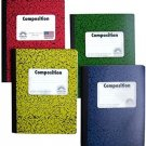 Norcom Colorful Wide Ruled 100 Sheets Composition Notebooks 4-Pack (Green, Red,