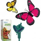 HQRP Pair Of Solar Powered Flying Fluttering Butterflies Yellow And Pink For UV