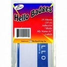 The Classics Hello My Name Is Badge Labels, Blue/White, 25 Count (TPG-457)
