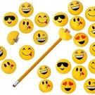 Cute Emoji Sharpener - 24 Emoticon Design Pencil Sharpeners School Gift Prizes