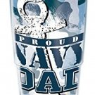 Tervis 1159875 Tumbler With White Lid, 24-Ounce, Proud Navy Dad