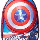 Marvel Little Boys Captain America Molded Shield 16In Backpack, Blue, One Size