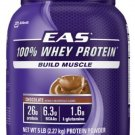 EAS 100% Whey Protein Powder, Chocolate, 5lb Tub (More Sizes Available)