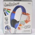IHip IP-DOODLE-BL DJ Style Erasable Drawing Headphones With Four Built-In Blue
