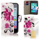 32nd® Design Book Wallet PU Leather Case Cover For Apple IPod Touch 5 (5th + -