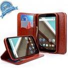Nexus 6 Case, Google Nexus 6 Case, NageBee - Wallet Flip Fold Case Pouch Cover