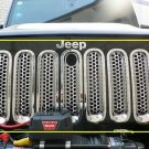 For 07-16 Jeep Wrangler JK Black Trim Front Grille Cover Insert Mesh Grill 7pcs