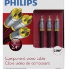 Philips Component Video Cable 8ft/2.4M Professioanl Series 24K Connectors NIB !!