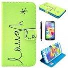 S5 Case, Galaxy S5 Case, MISTOT(TM) Laugh Pattern Premium PU Leather Wallet For