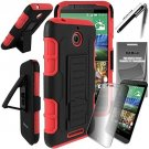 ElBolt HTC Desire 510 Guardian¨ Holster Stand Case - Red By ElBolt¨ With Free