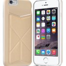 iPhone 6 6S Case, iKare [KICK STAND] Wallet Case With Card Holder Dual Layer