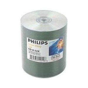 200 Philips 52x CD-R 80min 700MB Shiny Silver