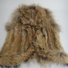 Rabbit Fur Vest With Raccoon Fur Trim Sleeveless